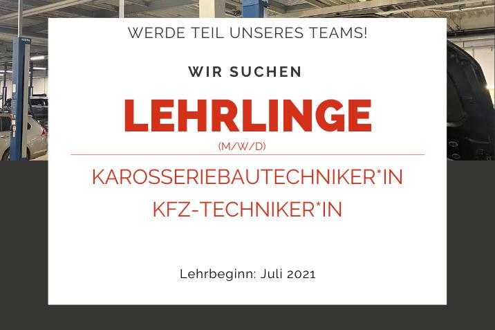 Lehrlinge Karosseriebautechniker*in KFZ-Techniker*in